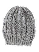 Grey wool hat isolated on white background. — Stock Photo