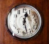 Antique grandfather clock, close up photo — Stock Photo