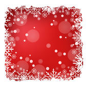 Red Christmas snow background with snow stripes. EPS10 vector. — Stock Vector