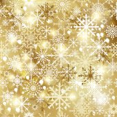 Snowflakes seamless pattern, snow background. Vector — Stock Vector