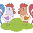 Two cocks vector image — Stock Vector #58788409