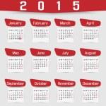 CALENDAR 2015 FOURTH EDITION — Stock Vector #54237723