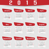 CALENDAR 2015 FOURTH EDITION — Stock vektor