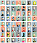 MEGA COLLECTION 56 OF PEOPLE ICONS FLAT AVATAR — Stock Vector