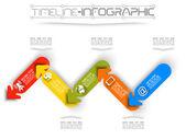Tijdlijn infographic nieuwe stijl 15 — Stockvector