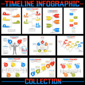 TIMELINE INFOGRAPHIC NEW STYLE COLLECTION — Stok Vektör
