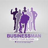 CONCEPT BUSINESSMAN AFFAIR BACKGROUND VIOLET 2015 — Stock Vector