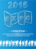 EXPO 2013 ANNUAL EVENT ADVERTISING GLASS — Stock Vector