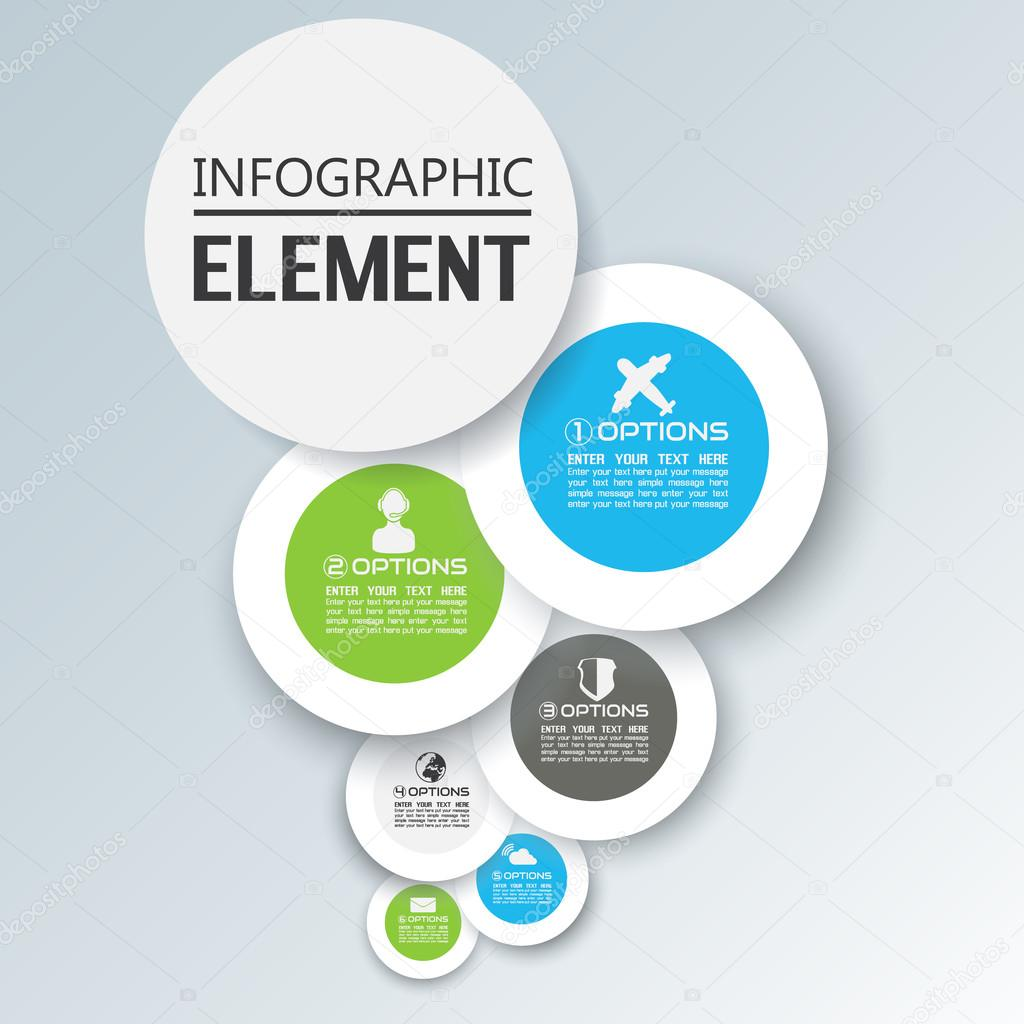 ELEMENT FOR INFOGRAPHIC CHART TEMPLATE GEOMETRIC FIGURE COMIC – Element Chart Template