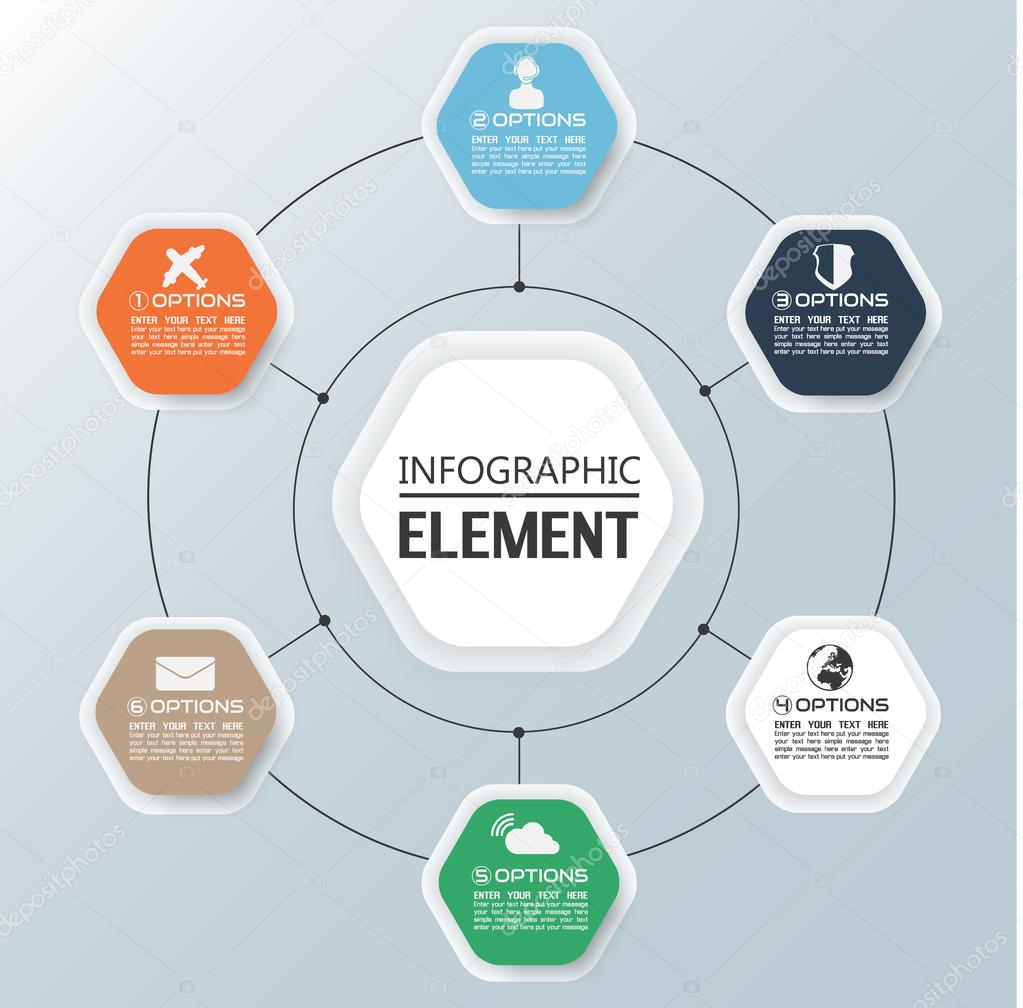 ELEMENT FOR INFOGRAPHIC CHART TEMPLATE GEOMETRIC FIGURE DIAMOND – Element Chart Template