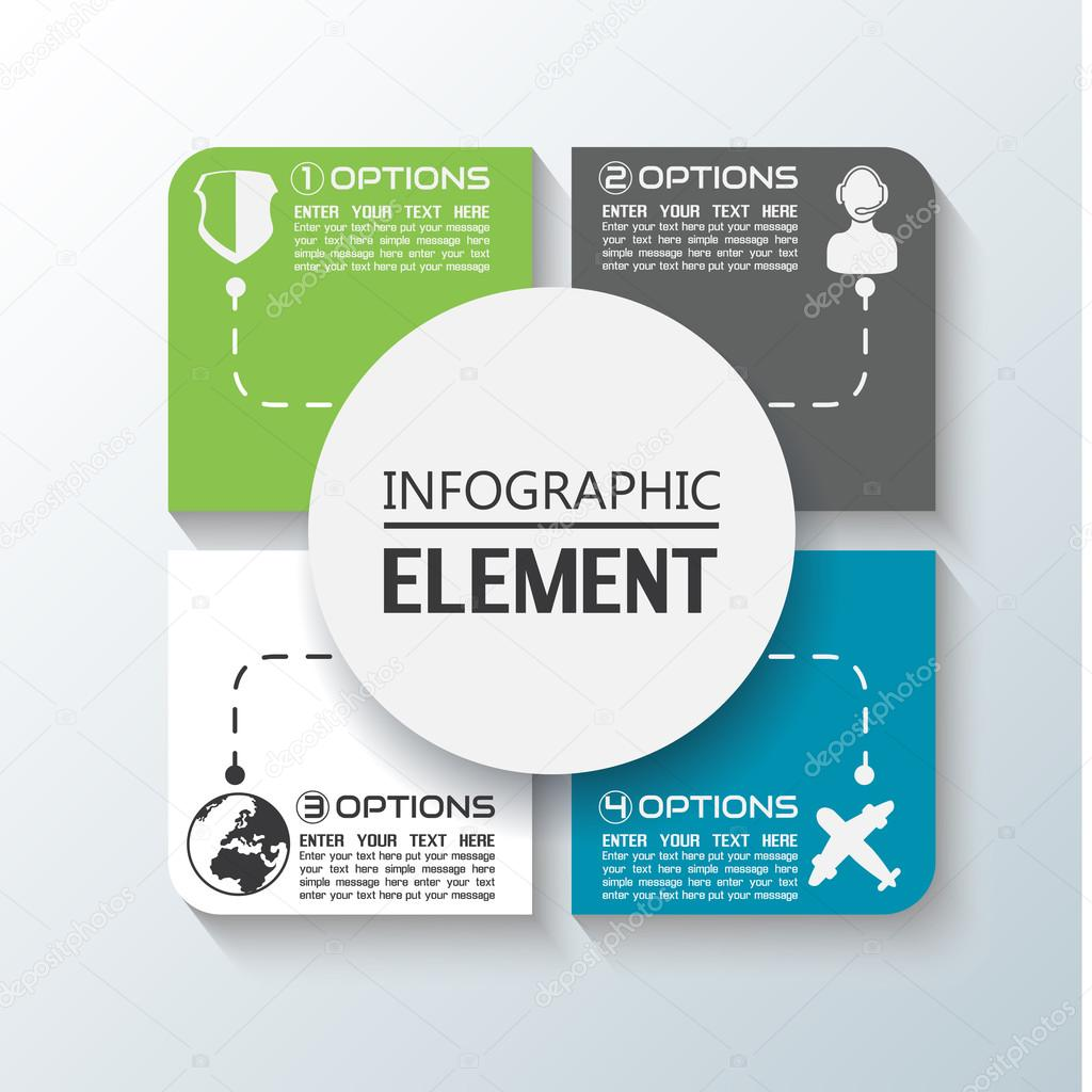 ELEMENT FOR INFOGRAPHIC CHART TEMPLATE GEOMETRIC FIGURE SQUARE AND – Element Chart Template