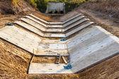 Stacked concrete drainage — Stock Photo