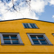 Old-style yellow wall with windows — Stock Photo #72063379