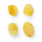 Potato chips with paprika — Stock Photo