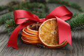 Traditional christmas decorations — Stock Photo
