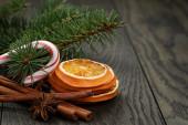 Decoraciones navideñas tradicionales — Foto de Stock