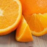 Ripe spanish oranges on wood table — Stock Photo #61840307