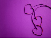 Quilling paper hearts like flowers — Stock Photo