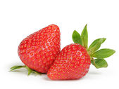 Whole strawberries berry isolated on white — Stockfoto