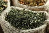 Fragrant dried tea horizontal — Stock Photo