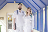 Smiling medical doctors  — Stock Photo