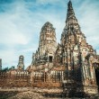 The old ruined buddhistic temple in ancient city Ayutthaya, Thailand — Stock Photo #57444941