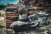Headless and handless ancient sculpture of Buddha in Ayutthaya city, Thailand — Stock Photo