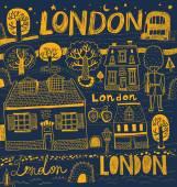 London symbols illustration — Stock Vector