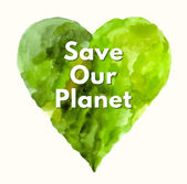 Save our planet  Poster — Stock Vector