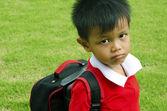Kids school bag — Stock Photo