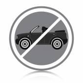 Car ban — Stock Vector