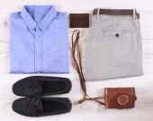 Set of male casual clothing — Stock Photo