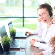 Portrait of smiling female customer service agent — Stock Photo #73529099