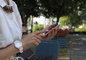 Mobile smart phone — Stock Photo