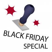 A Rubber Stamp With Word Black Friday Special — Stock Vector