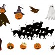 Постер, плакат: Set of Various Halloween Item and Monster