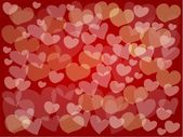 Little Hearts Make A Beautiful Red Background — Stock Vector