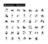 Set of 41 Summer Sport Icons — Stock Vector