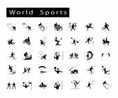 Set of 35 World Sport Icons — Stock Vector