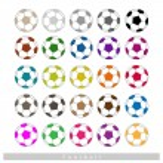 Set of Multi-colored Footballs or Soccer Balls — Stock Vector #70603861