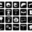 Set of Sport Accessory Icons on White Background — Stock Vector #71526813