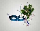 Mask with christmas decoration — Vecteur