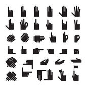 Set of 33 hands position Icons — Stock Vector