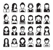 Set of style women icon — Stock Vector