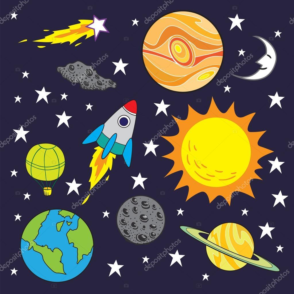Airdone 111870720 - Dibujos infantiles del espacio ...