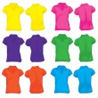 Women's Polo Shirt Template in Many Color — Stock Vector