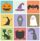 Halloween Flat Icon — ストックベクタ