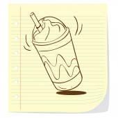 Coffee Frappe Doodle — Vecteur