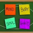 Mind Body Soul Spirit — Stock Photo #56791775