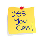 Yes You Can — Stock Vector